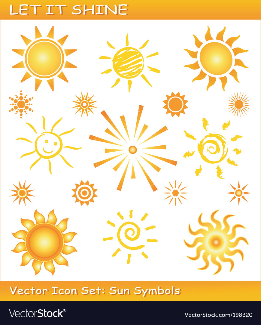 Sun icons vector | Price: 1 Credit (USD $1)