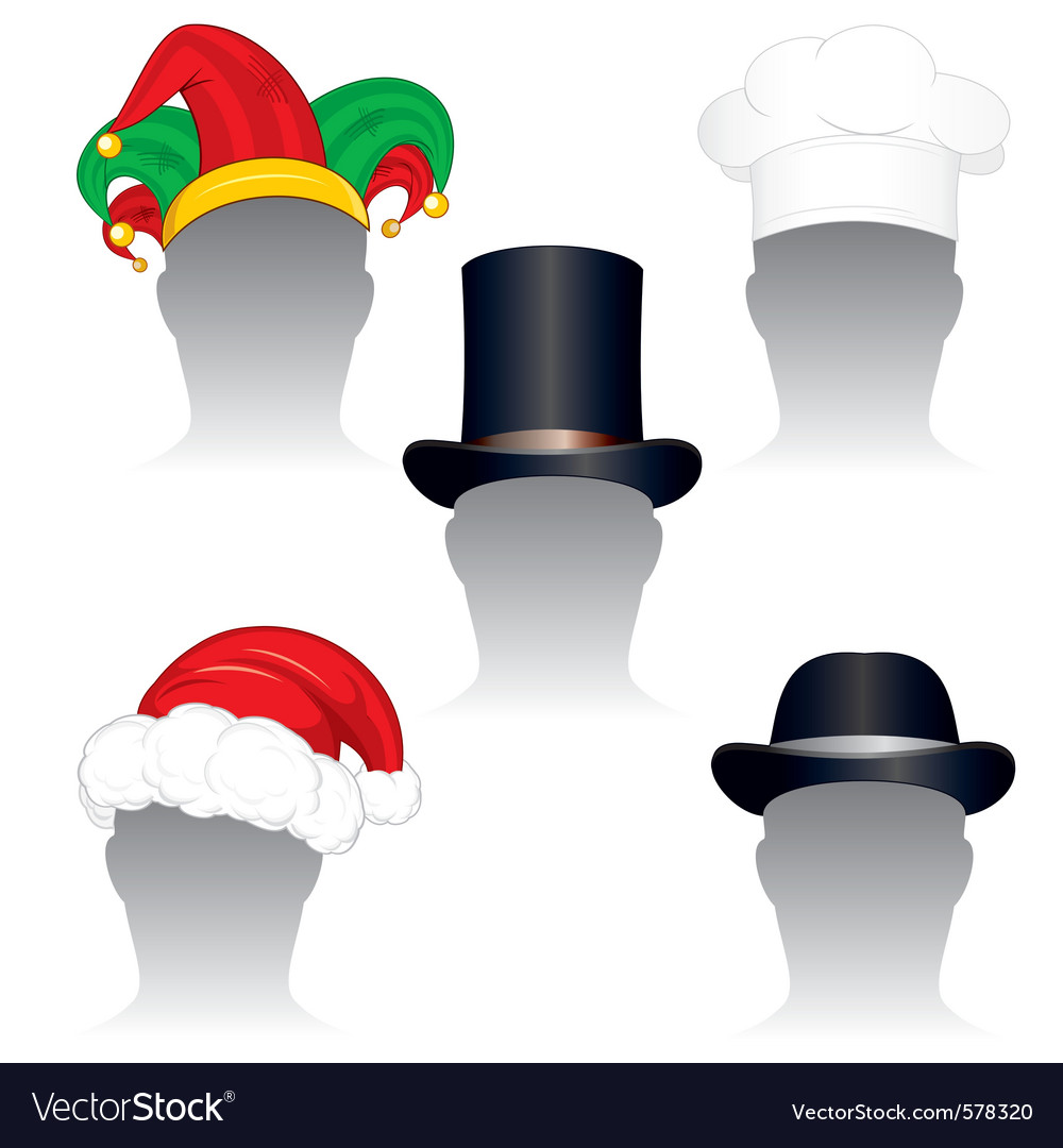Various hats and caps vector | Price: 1 Credit (USD $1)