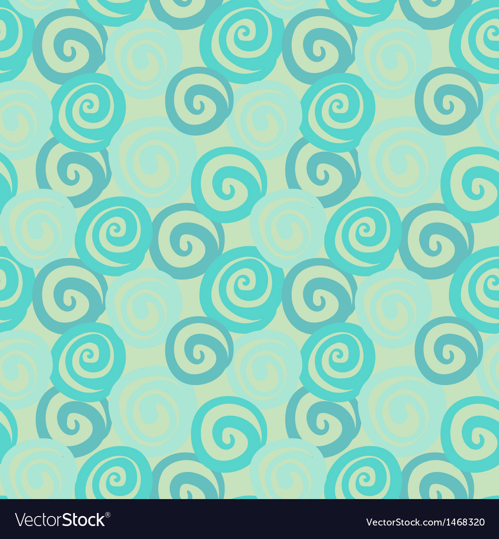 Vintage abstract seamless pattern with curl vector | Price: 1 Credit (USD $1)