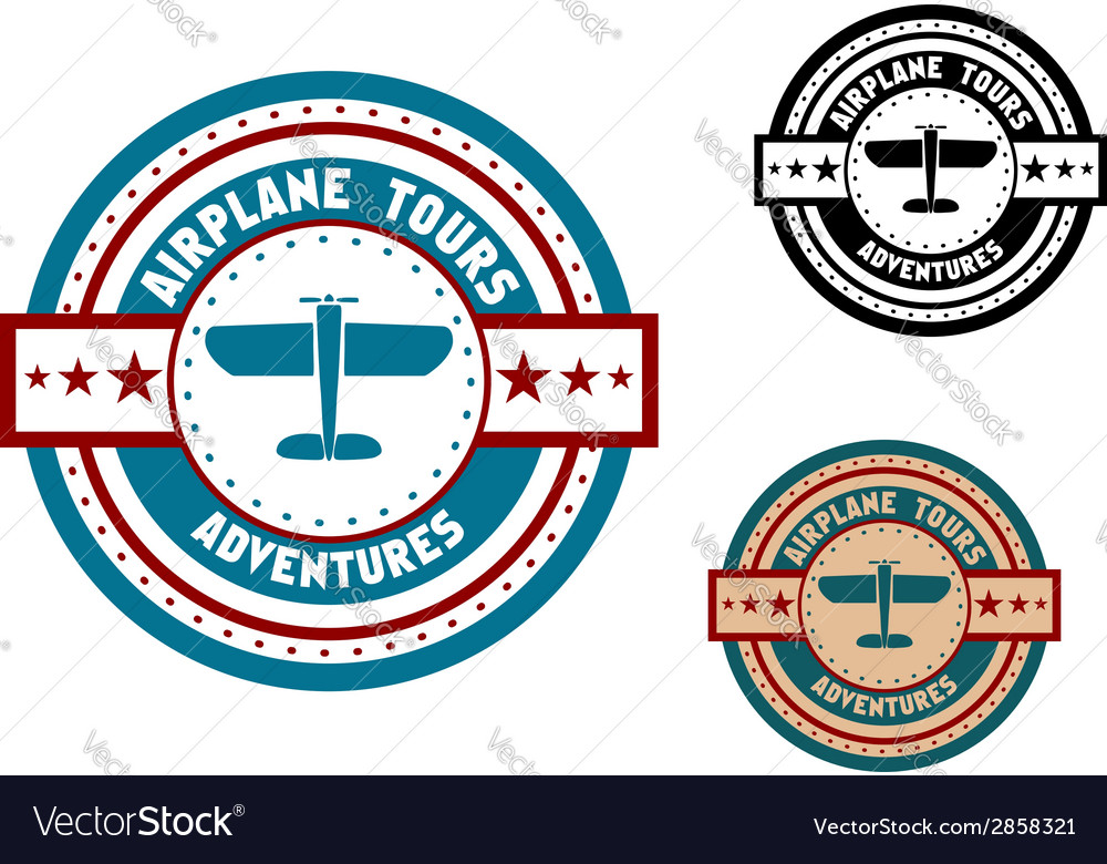 Airplane tours travel icon vector | Price: 1 Credit (USD $1)