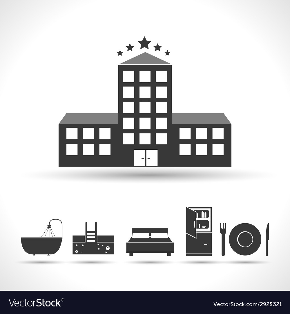 Five stars hotel concept vector | Price: 1 Credit (USD $1)