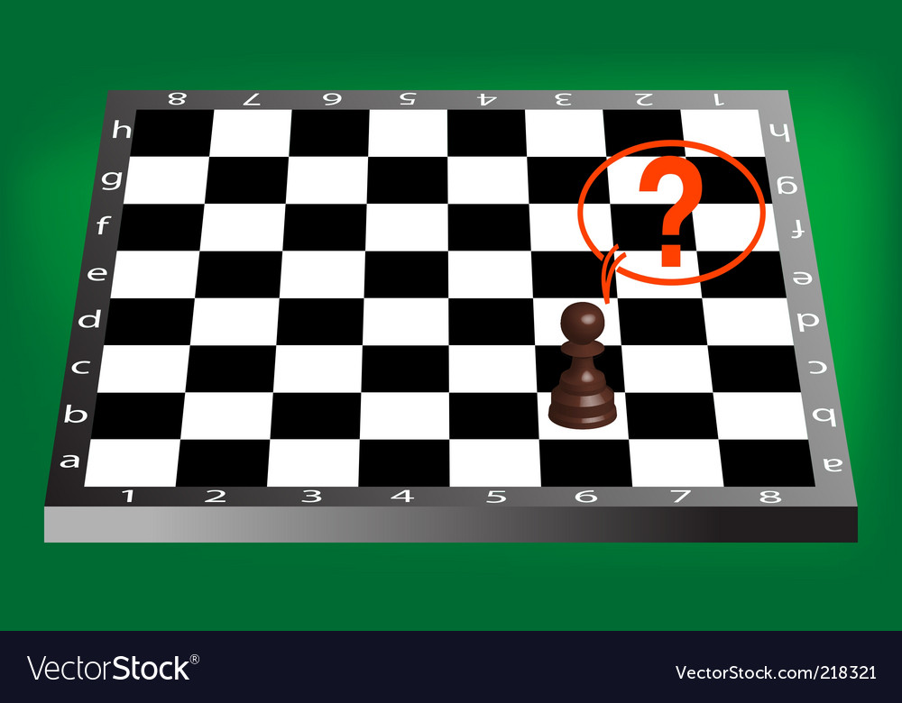 Pawn and chess board vector | Price: 1 Credit (USD $1)