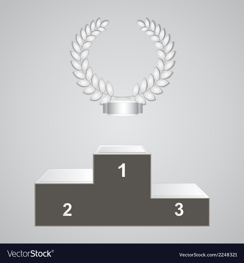 Pedestal and laurels vector | Price: 1 Credit (USD $1)