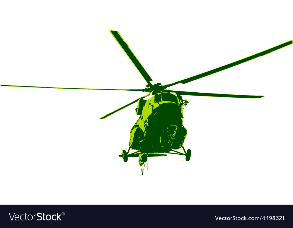 Russian army mi-8 helicopter vector | Price: 1 Credit (USD $1)