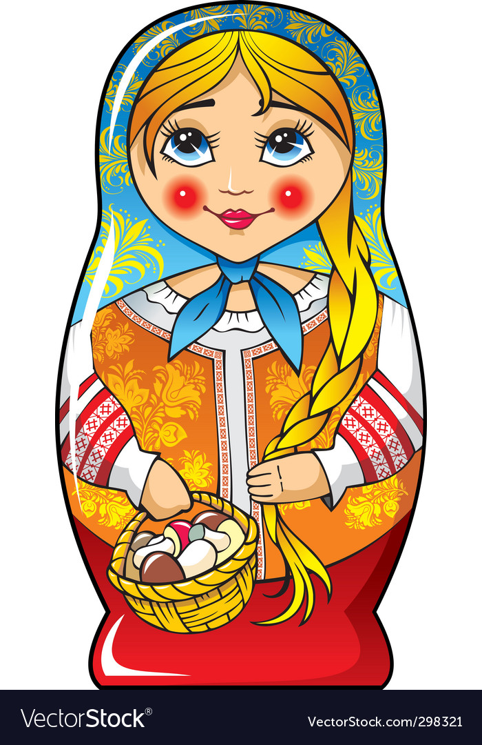 Russian matryoshka doll vector | Price: 3 Credit (USD $3)