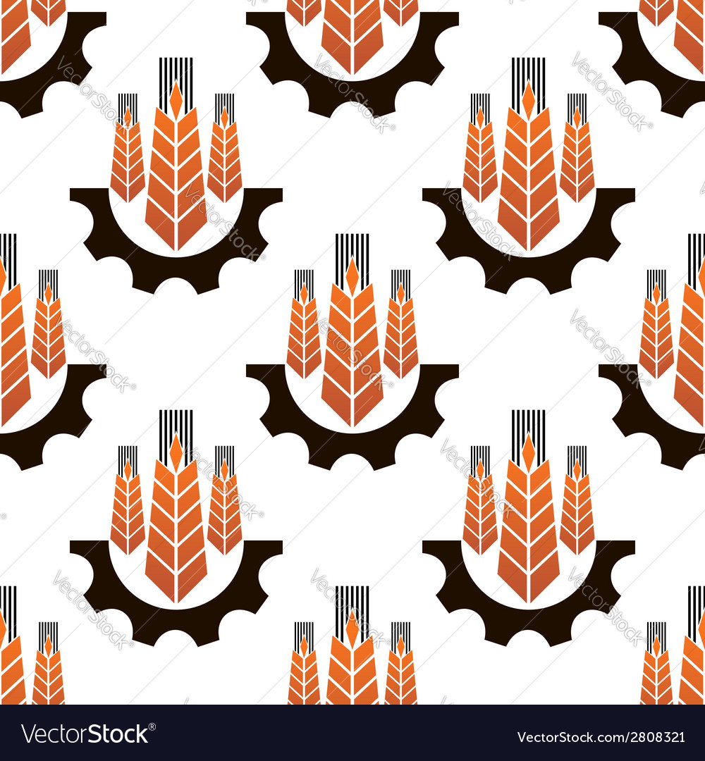 Seamless pattern of agriculture emblem vector | Price: 1 Credit (USD $1)
