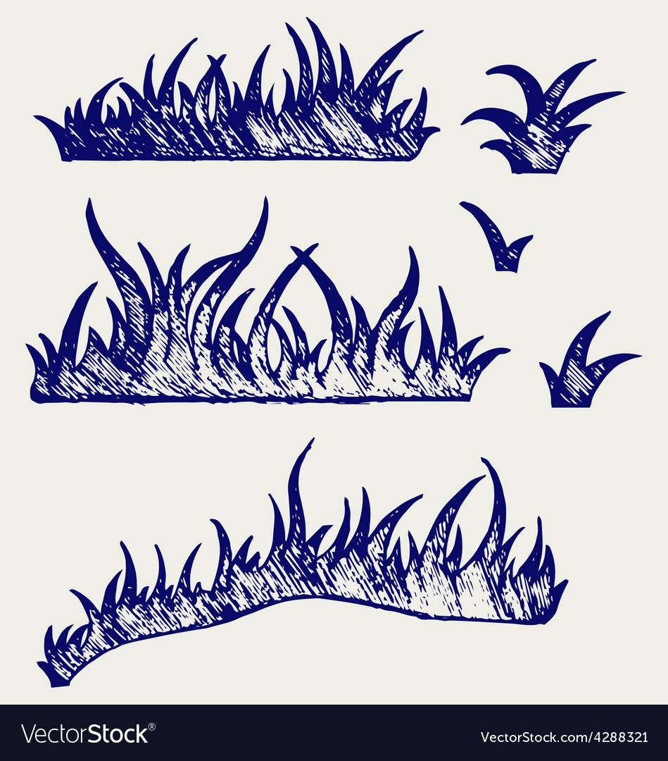 Silhouette grass vector | Price: 1 Credit (USD $1)