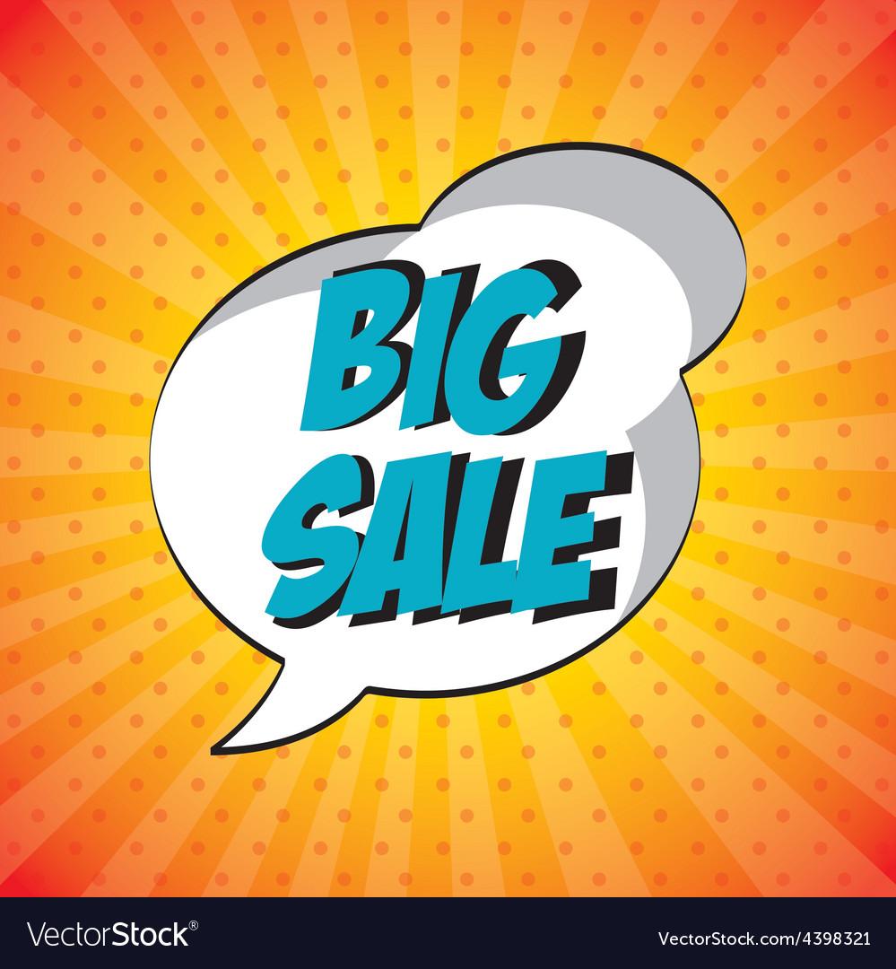 Store pop art label vector | Price: 1 Credit (USD $1)