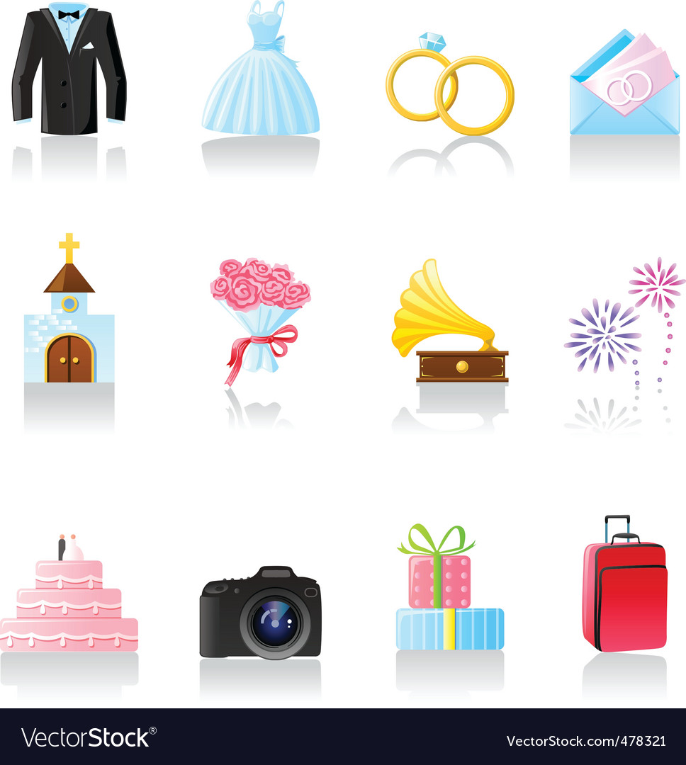 Wedding icons vector | Price: 1 Credit (USD $1)