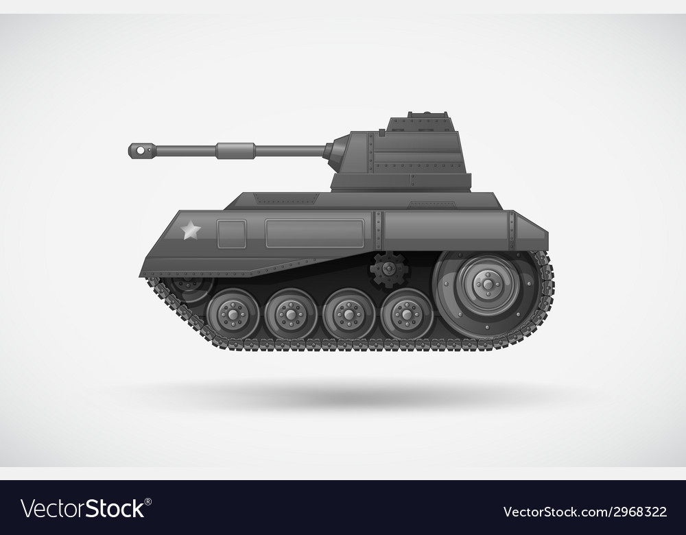 A military armoured tank vector | Price: 1 Credit (USD $1)