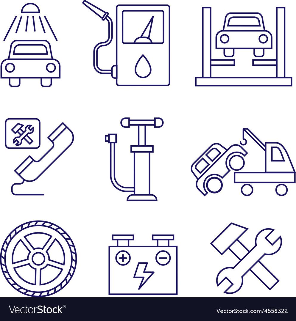 Car service maintenance icon auto repair vector | Price: 1 Credit (USD $1)
