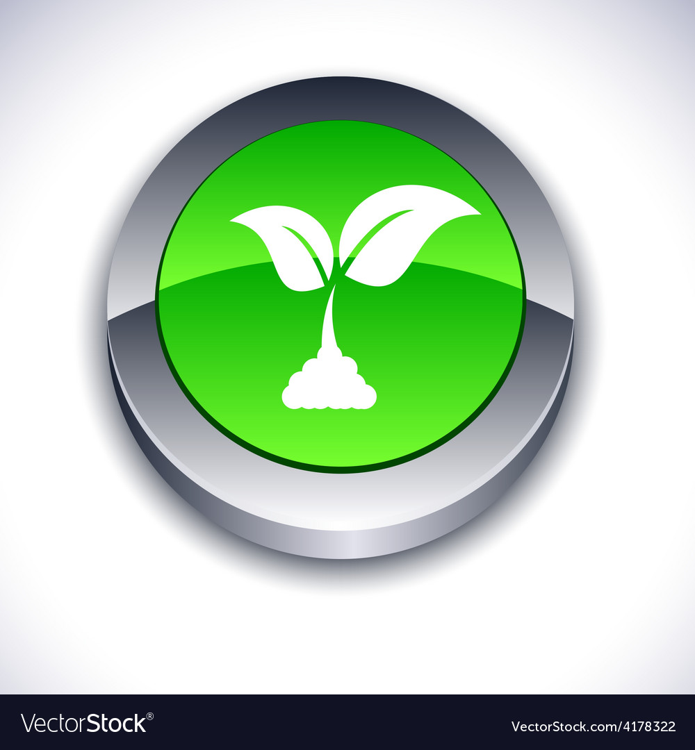 Ecology 3d button vector   Price: 1 Credit (USD $1)