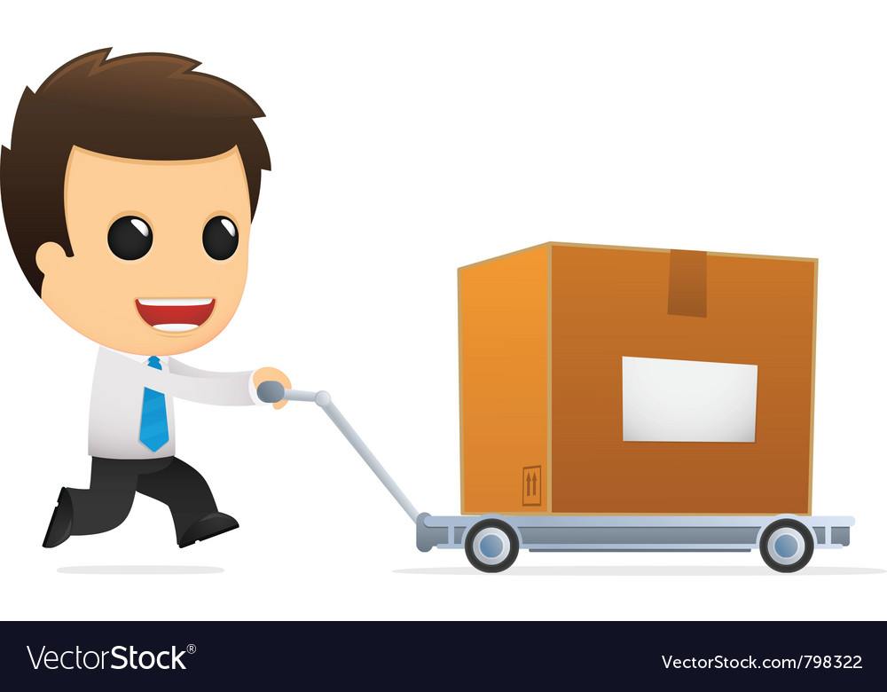 Funny cartoon office worker vector | Price: 1 Credit (USD $1)