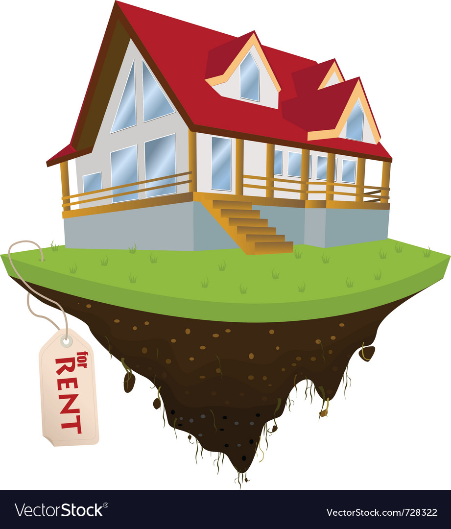 House for rent vector | Price: 3 Credit (USD $3)