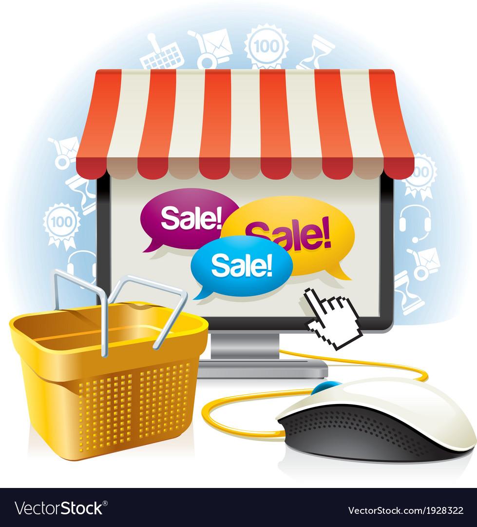 Internet shop vector | Price: 3 Credit (USD $3)