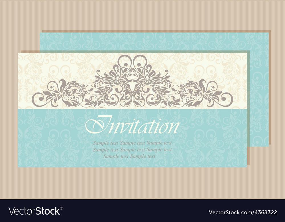 Invitation card vector | Price: 1 Credit (USD $1)