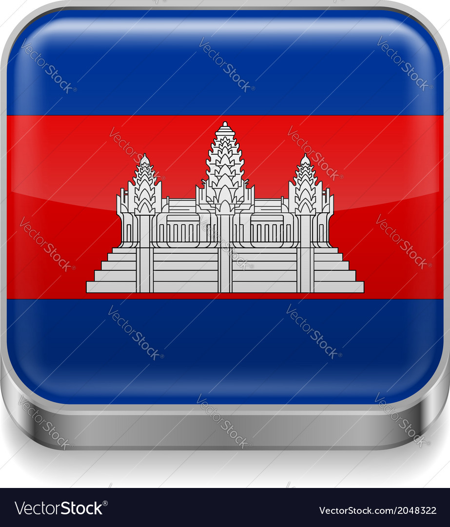 Metal icon of cambodia vector | Price: 1 Credit (USD $1)