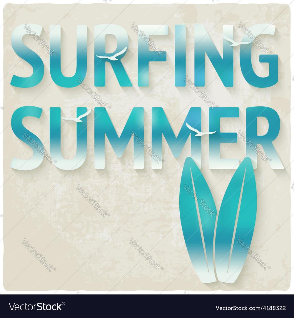 Surfing beach summer background vector | Price: 1 Credit (USD $1)