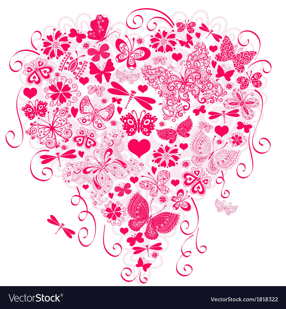 Valentine greeting pink card vector | Price: 1 Credit (USD $1)