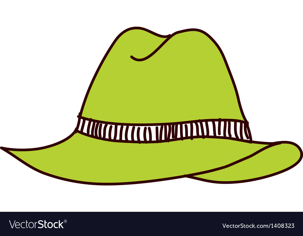 A view of hat vector | Price: 1 Credit (USD $1)
