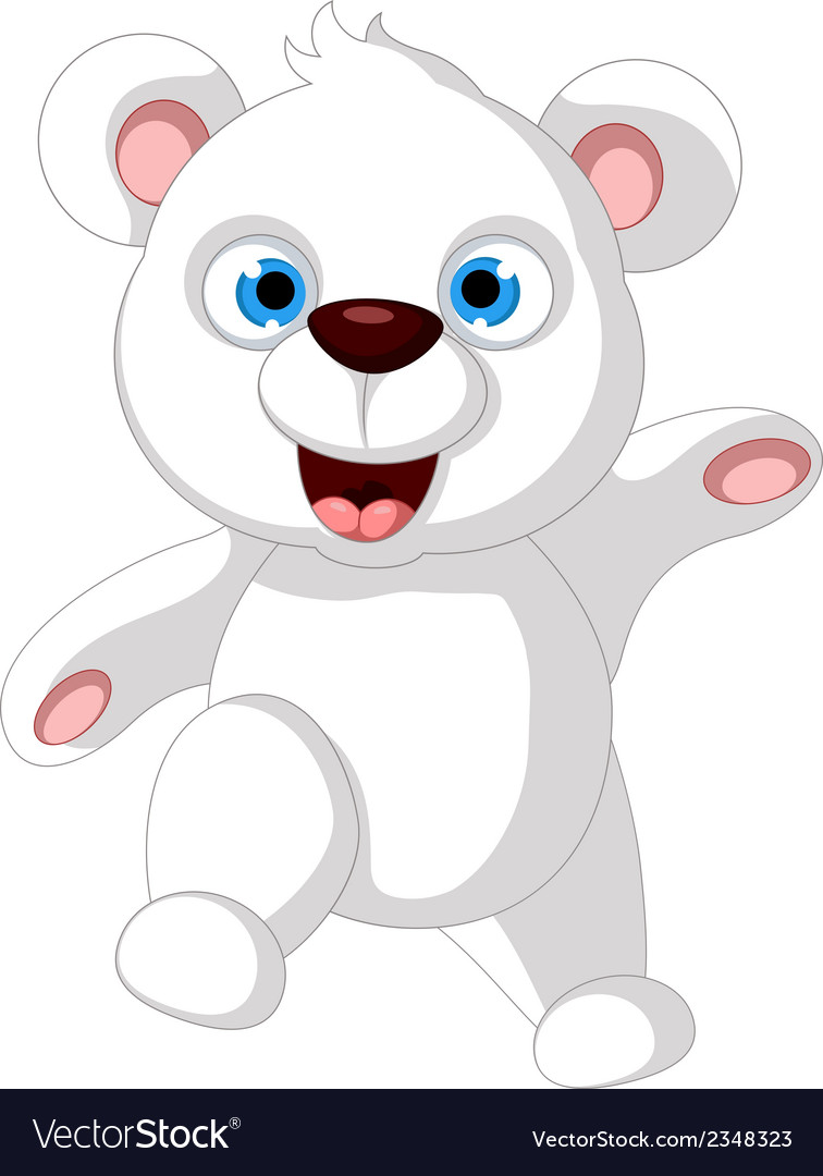 Baby polar bear posing vector | Price: 1 Credit (USD $1)