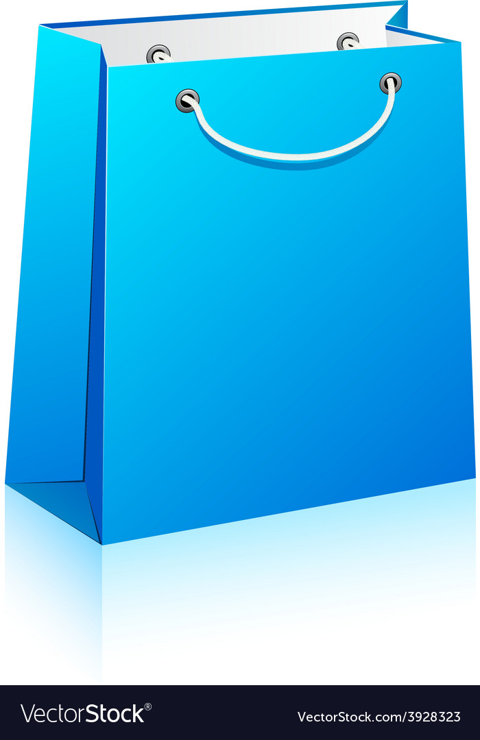 Blue shopping bag vector   Price: 1 Credit (USD $1)