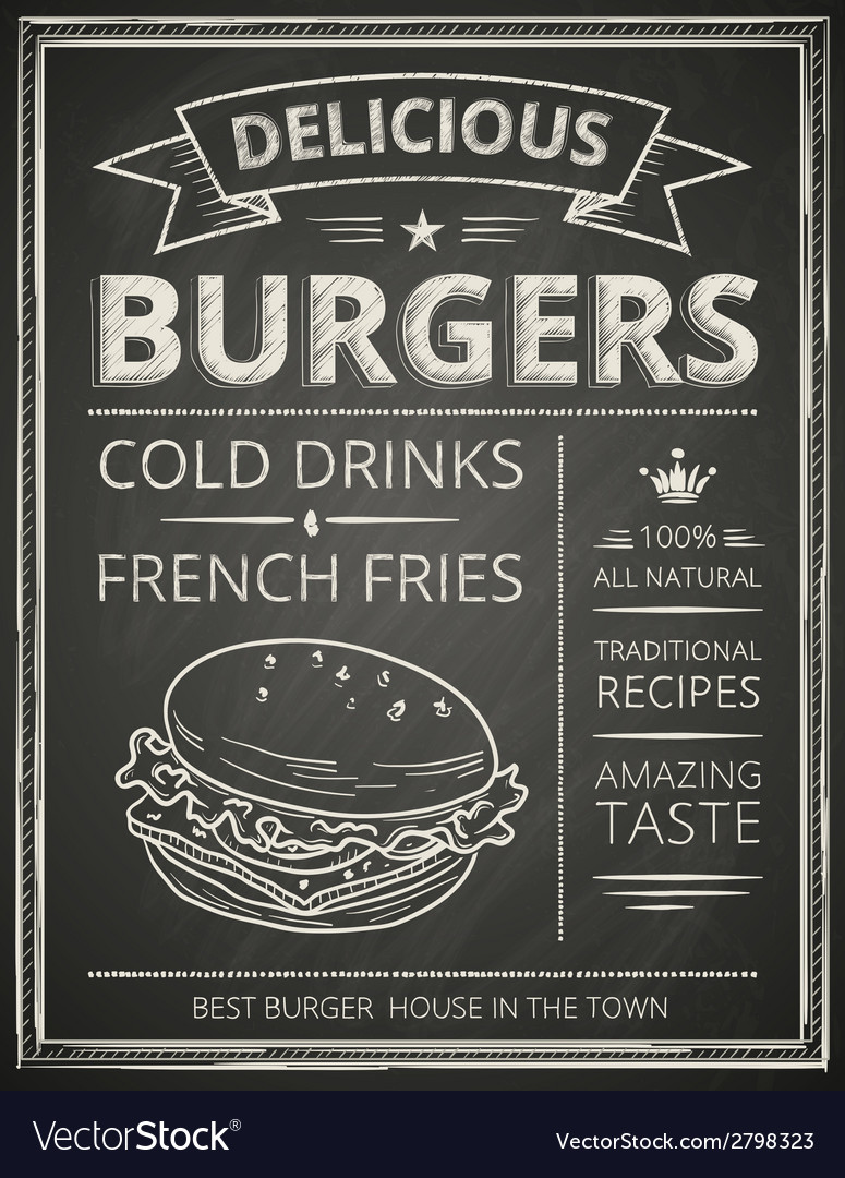 Burger poster vector | Price: 1 Credit (USD $1)
