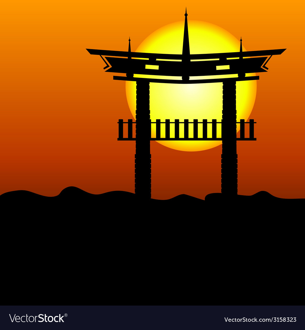 Chinese construction silhouette vector | Price: 1 Credit (USD $1)