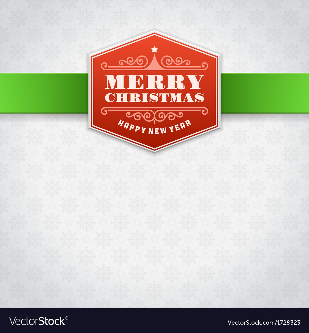 Christmas label or invitation card background vector | Price: 1 Credit (USD $1)