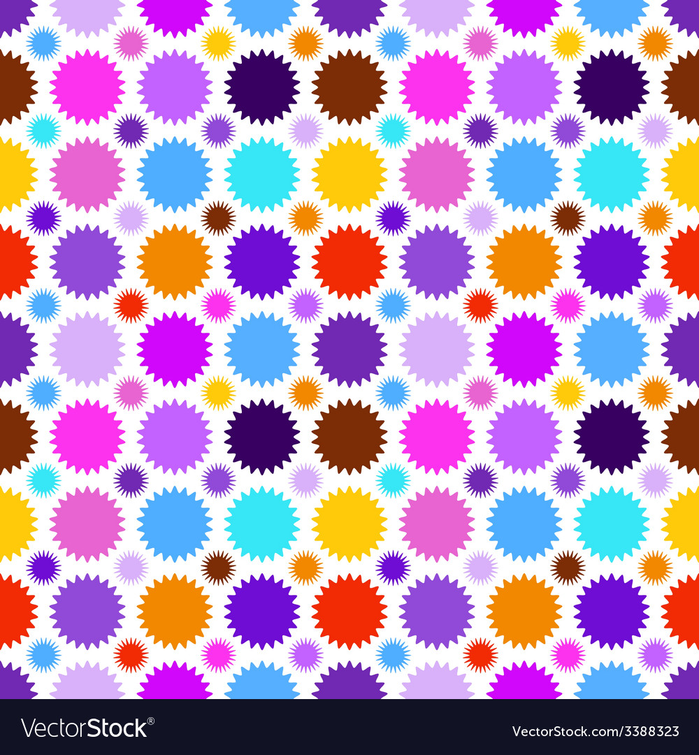 Colorful star seamless pattern vector | Price: 1 Credit (USD $1)