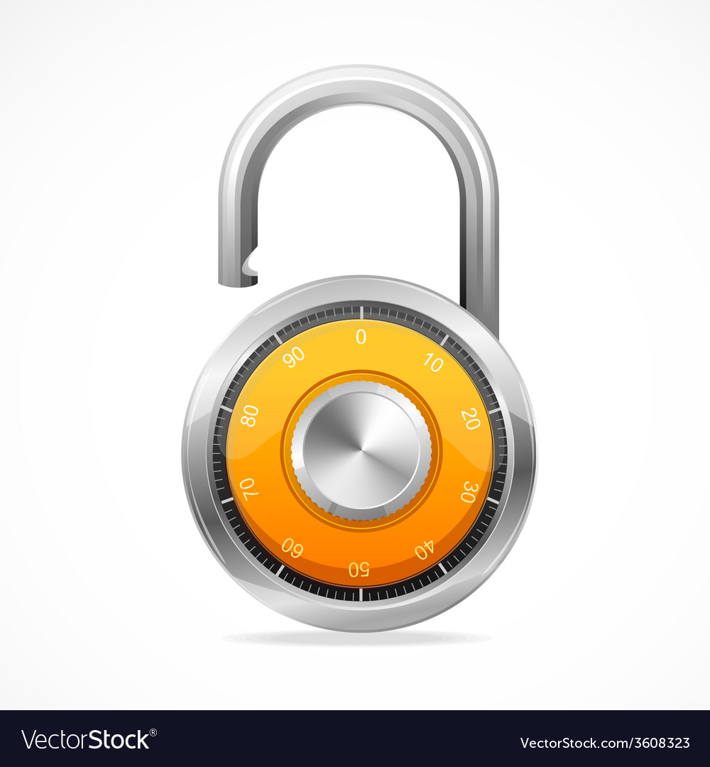 Combination opened lock security concept vector | Price: 1 Credit (USD $1)