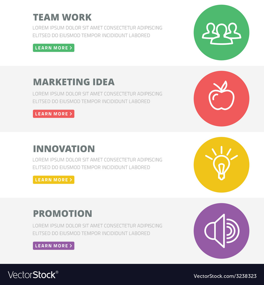 Flat design concept for team work marketing vector | Price: 1 Credit (USD $1)