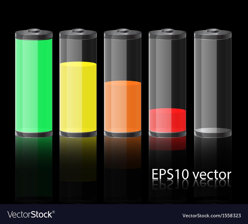 Glass battery vector