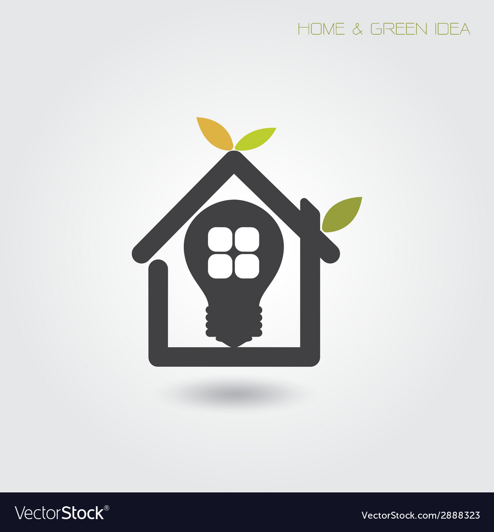 Green energy home concept vector | Price: 1 Credit (USD $1)