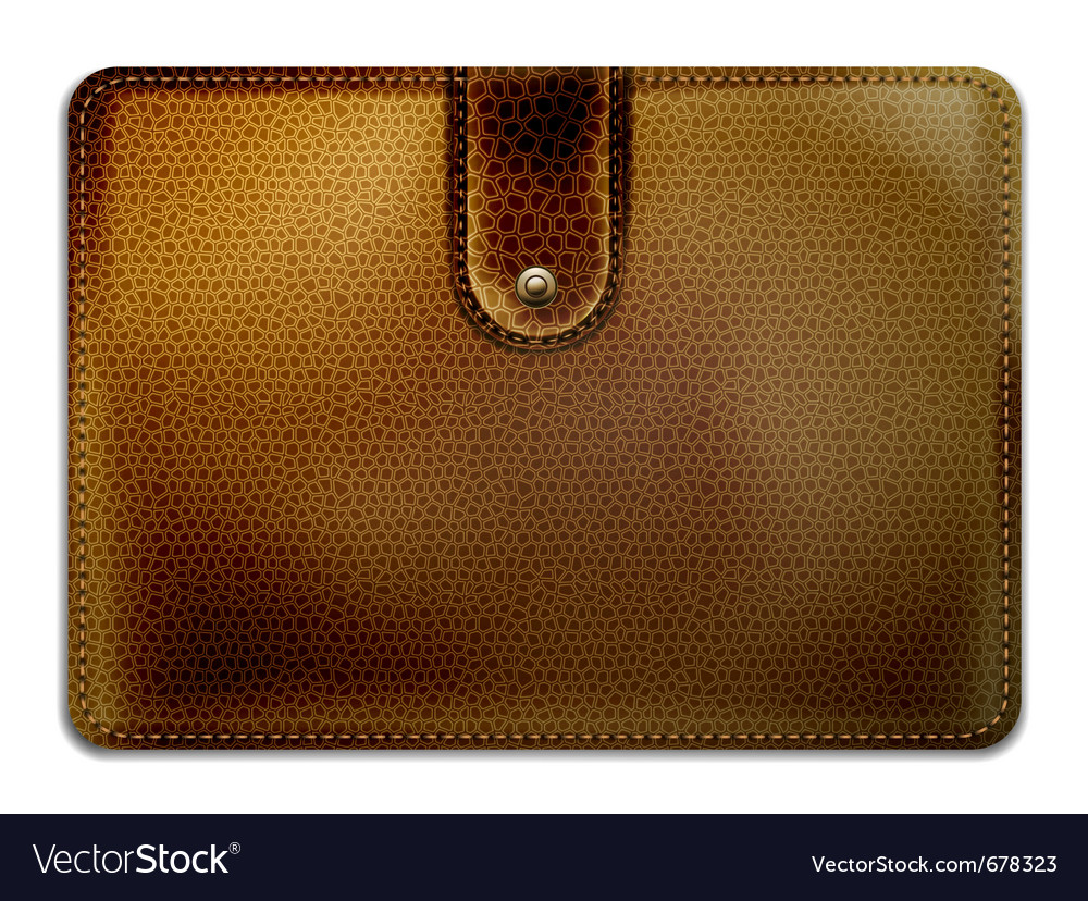 Leather purse vector | Price: 1 Credit (USD $1)