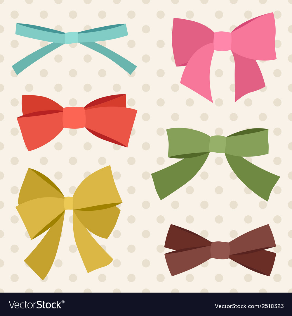 Set of various abstract bows and ribbons vector | Price: 1 Credit (USD $1)