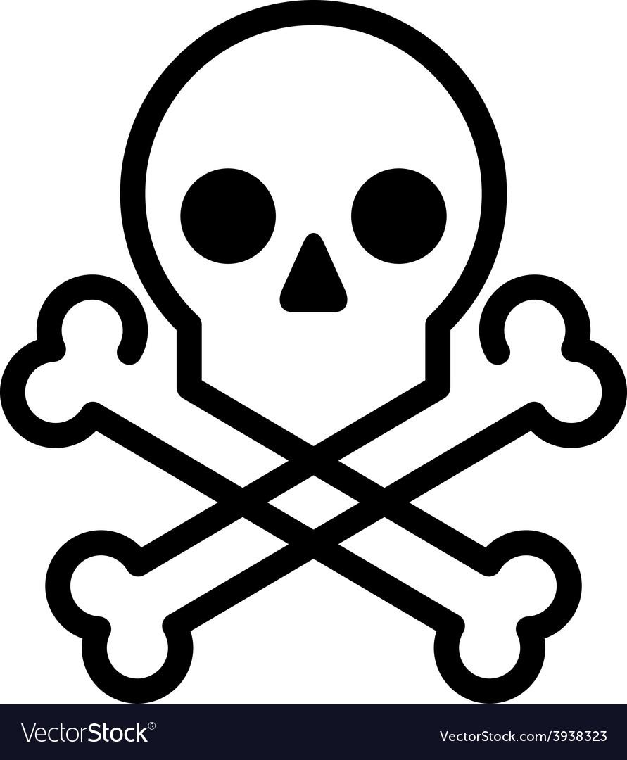 Skull and bones icon vector | Price: 1 Credit (USD $1)