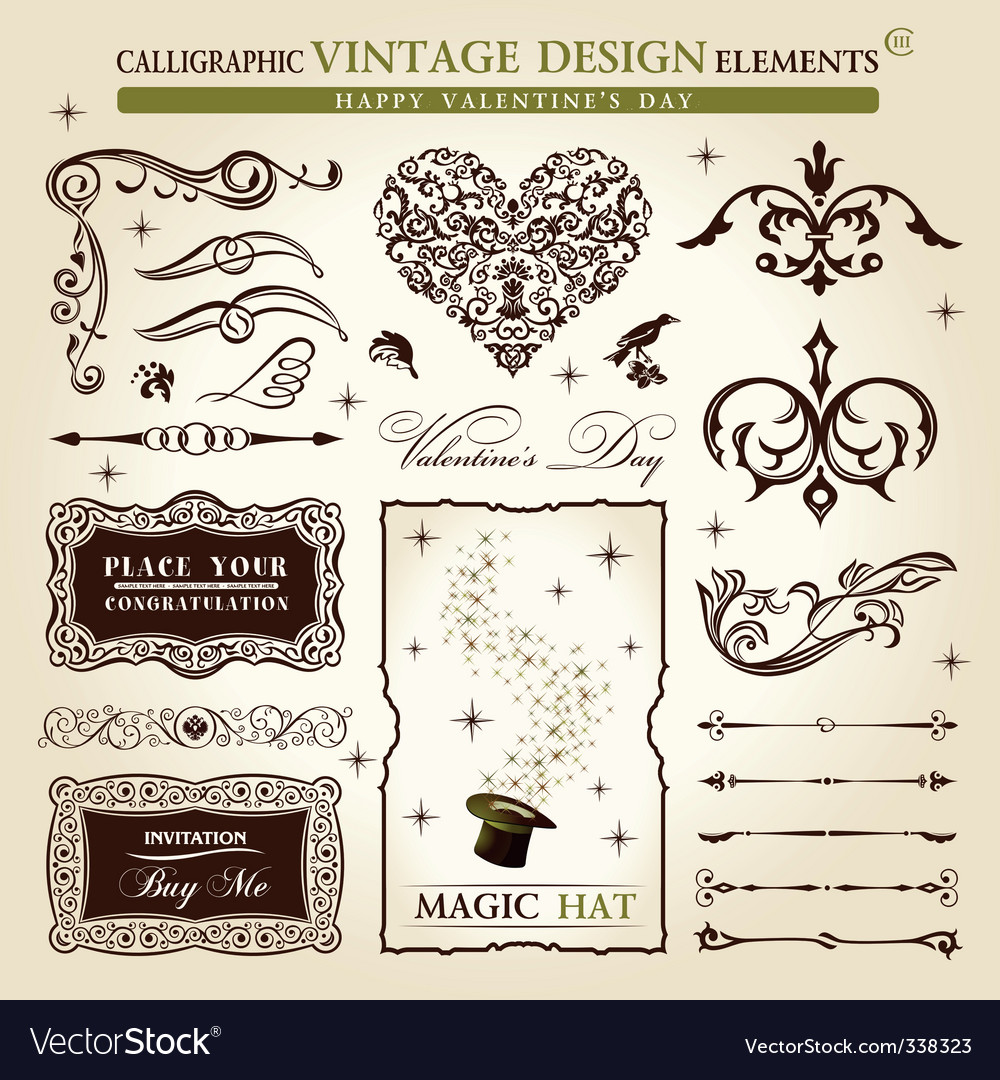 Vintage calligraphy vector | Price: 1 Credit (USD $1)