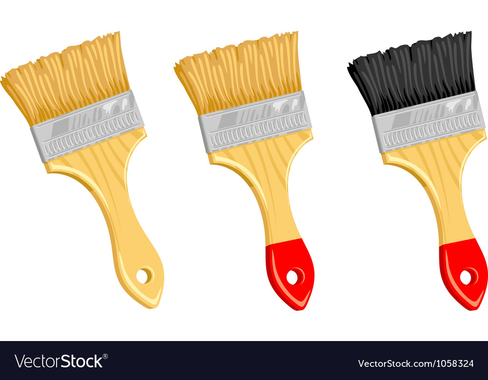 Clean paint brush on white background vector | Price: 1 Credit (USD $1)