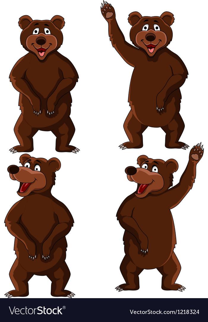 Cute bear cartoon vector | Price: 1 Credit (USD $1)