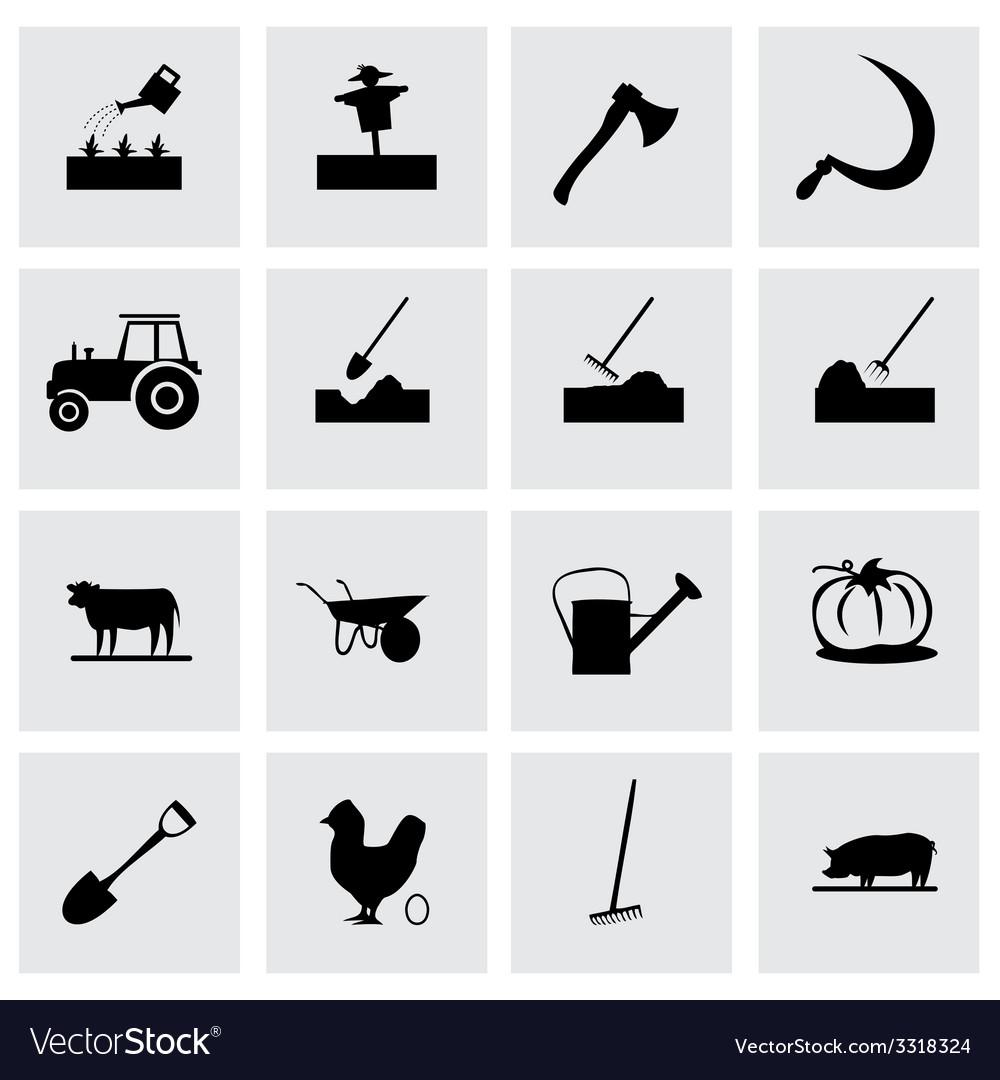 Farming icon set vector | Price: 1 Credit (USD $1)