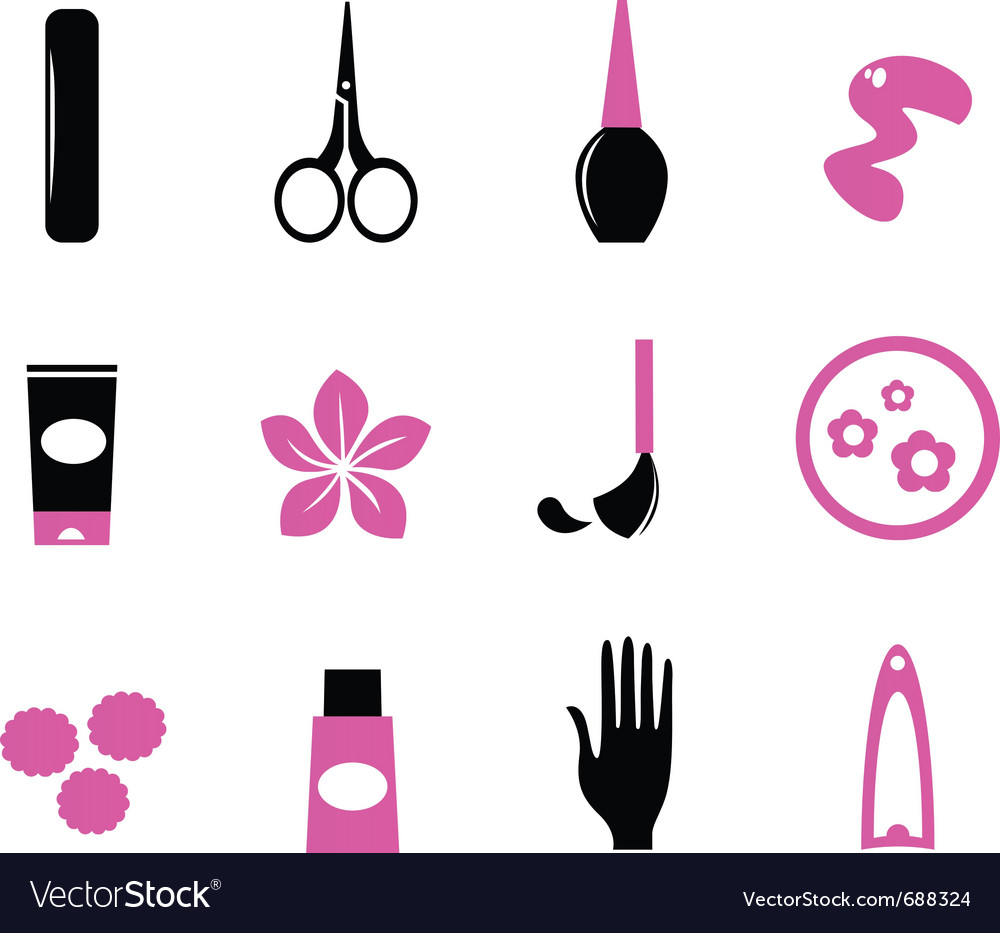 Manicure icons vector | Price: 1 Credit (USD $1)