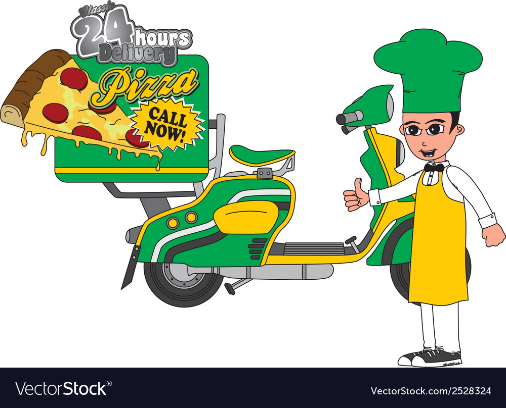 Pizza delivery vector   Price: 1 Credit (USD $1)
