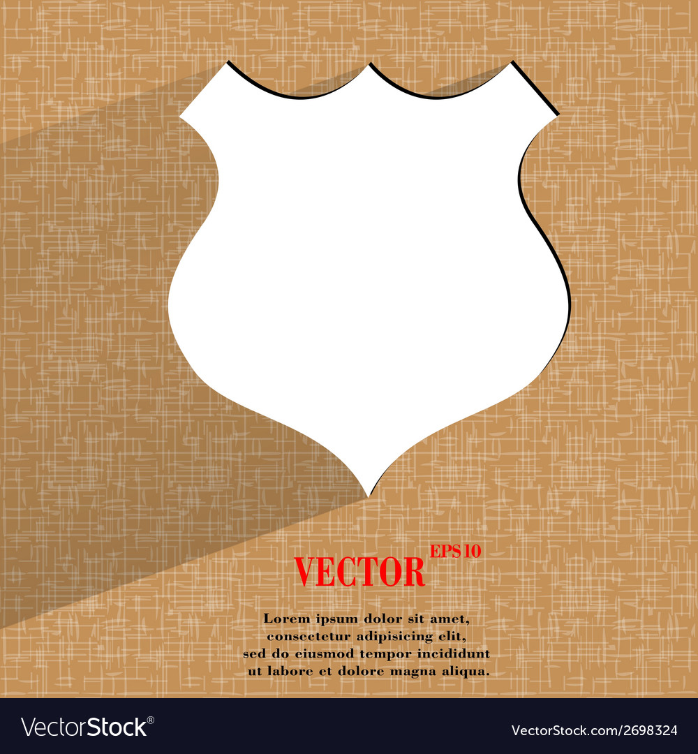 Shield flat modern web design on a flat geometric vector | Price: 1 Credit (USD $1)