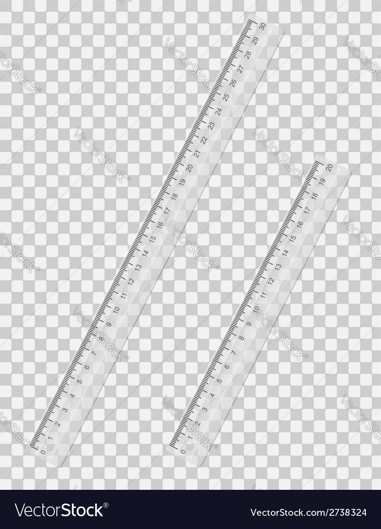Transparent ruler 01 vector | Price: 1 Credit (USD $1)