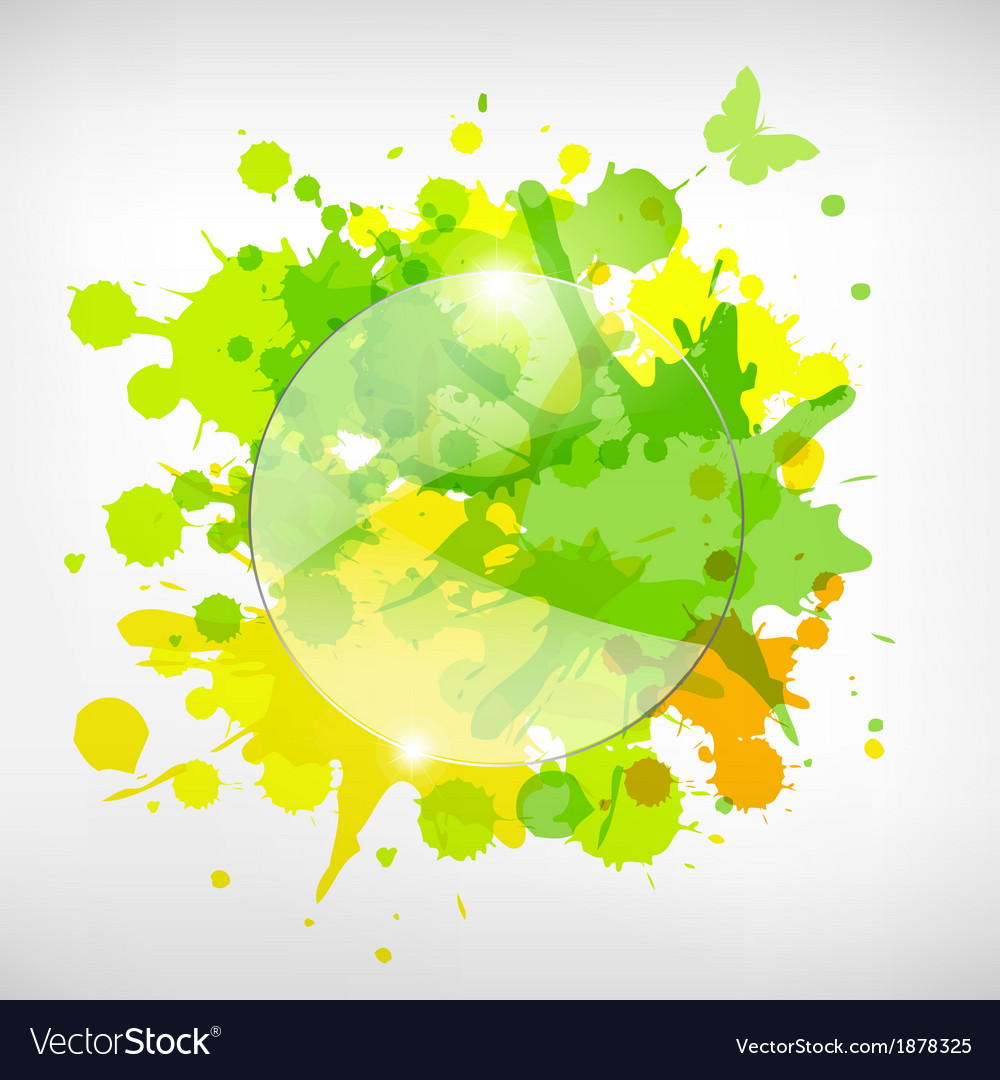 Advertising glass board with color blots vector | Price: 1 Credit (USD $1)