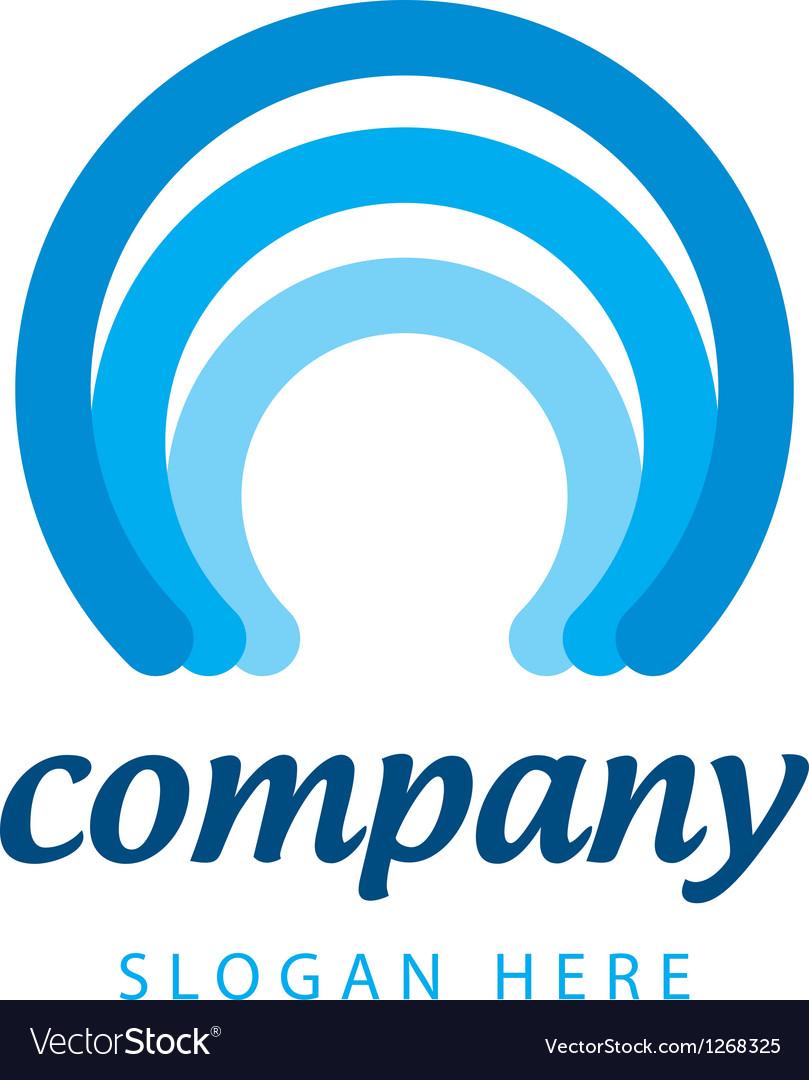 Blue stripes logo vector