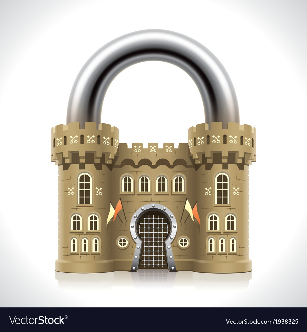 Castle padlock vector | Price: 3 Credit (USD $3)