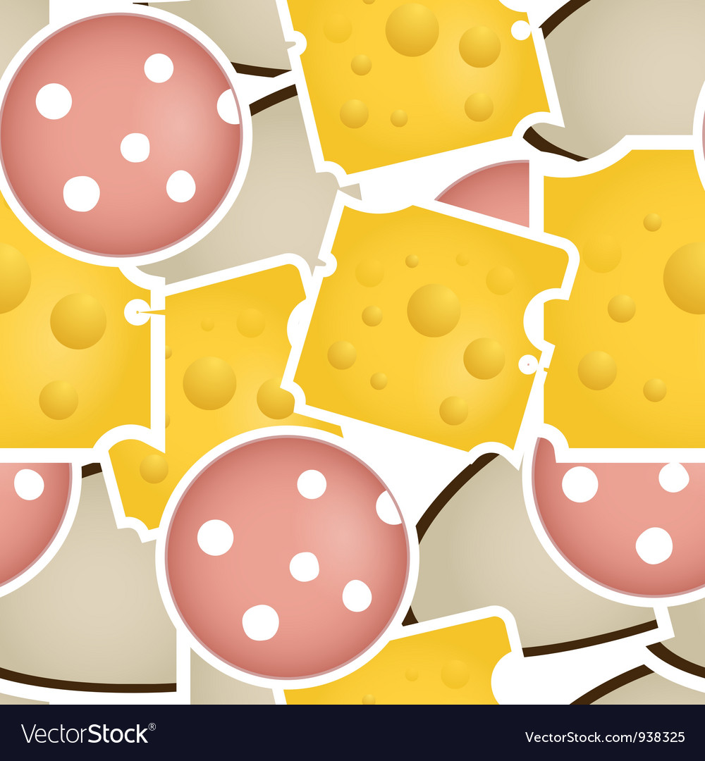 Cheese and salami vector | Price: 1 Credit (USD $1)