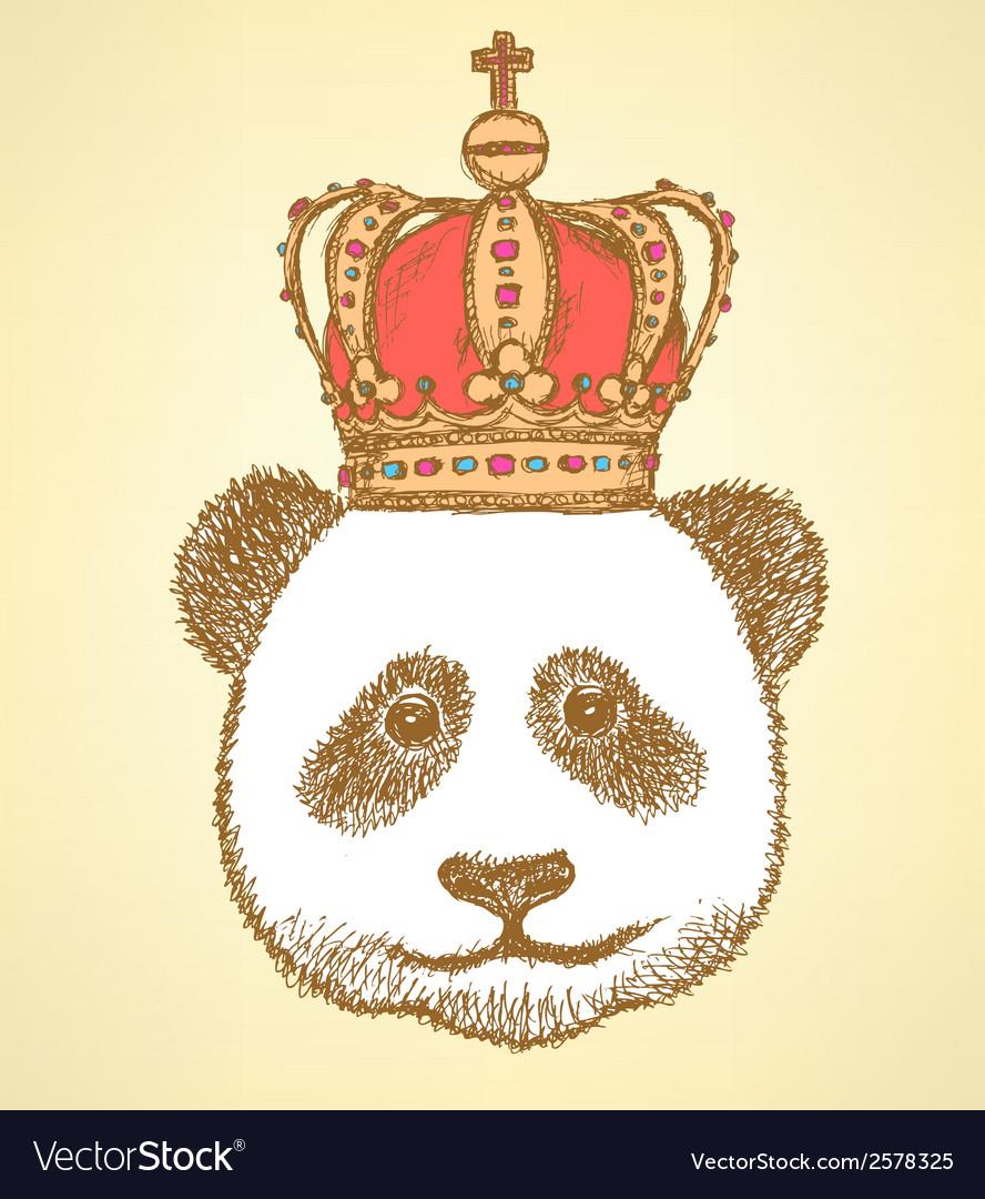 Crown panda vector | Price: 1 Credit (USD $1)